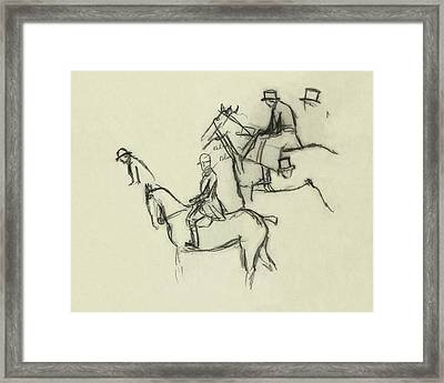 Two Men Horse Riding Framed Print