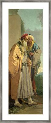 Two Men In Oriental Costume Framed Print by Giovanni Battista Tiepolo
