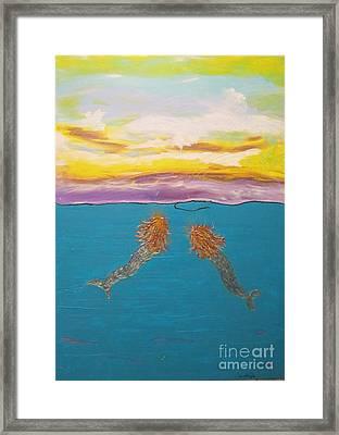 Two Mermaids Framed Print
