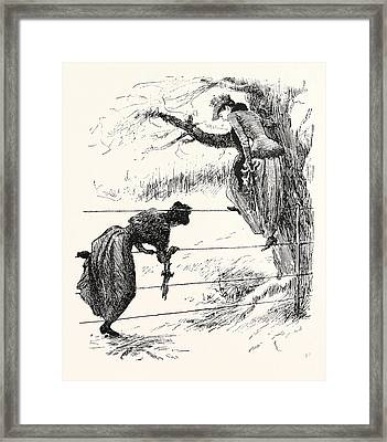 Two Methods Of Speeling A Wire-fence Framed Print
