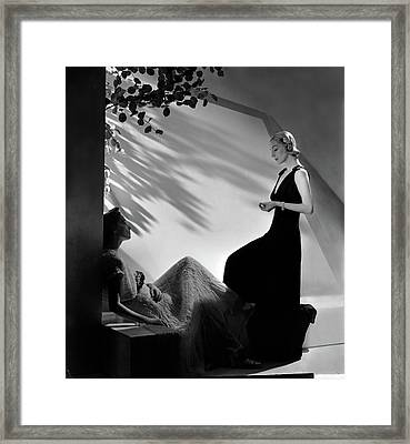 Two Models In Summer Fashions Framed Print by Horst P. Horst