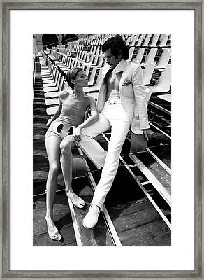 Two Models Wearing 1970s Style Clothing Framed Print by Eva Sereny