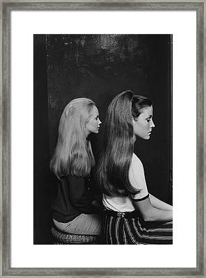 Two Models Wearing Hairpieces Framed Print