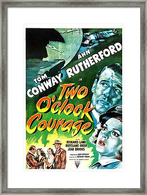 Two Oclock Courage, Us Poster, Tom Framed Print