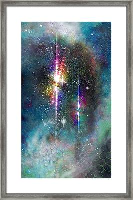 Two Of Wands/stars - Artwork For The Science Tarot Framed Print