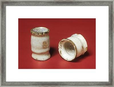 Two Ointment Pots Framed Print by Science Photo Library