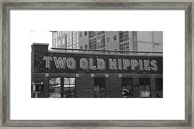 Two Old Hippies In Nashville Framed Print by Dan Sproul