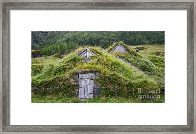 Two Old Icelandic Houses Framed Print by Patricia Hofmeester