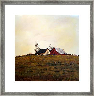 Framed Print featuring the painting Two On A Hill by William Renzulli