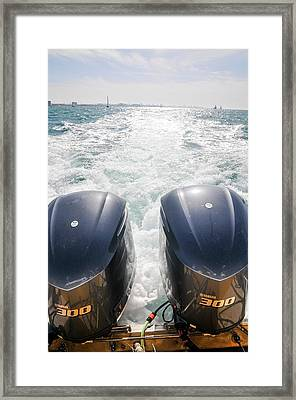 Two Outboard Engines Framed Print by Photostock-israel