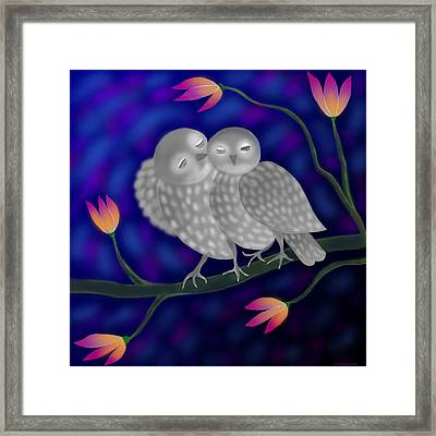 Two Owls Framed Print by Latha Gokuldas Panicker