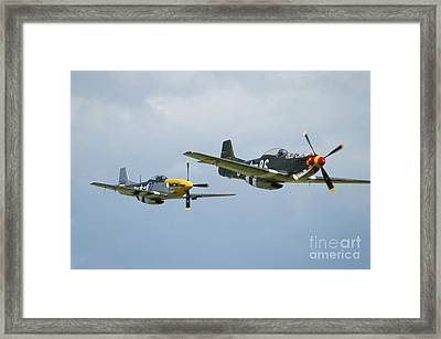 Two P-51d Mustangs In United States Framed Print by Riccardo Niccoli