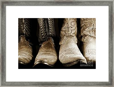 Two Pair Of Cowboy Boots Are Better Than One Framed Print