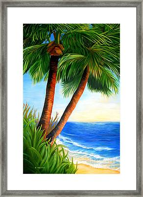 Two Palms Framed Print
