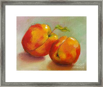 Two Peaches Framed Print by Michelle Abrams