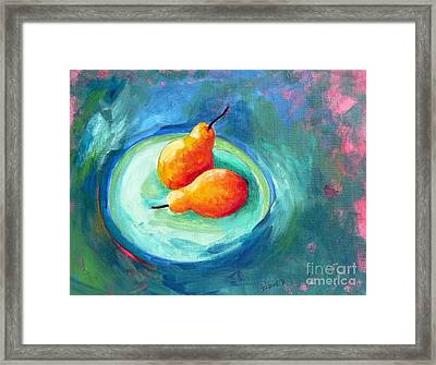 Two Pears Framed Print by Elizabeth Fontaine-Barr