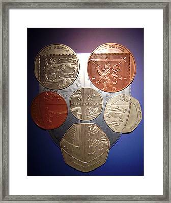 Two Pence Five Pence Ten Pence Framed Print by Cathy Shiflett