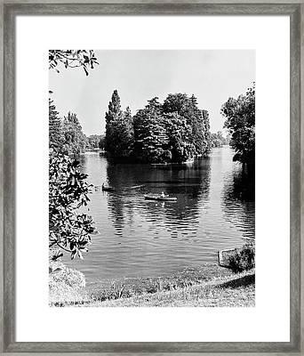 Two People Rowing At Bois Du Boulogne Park Framed Print