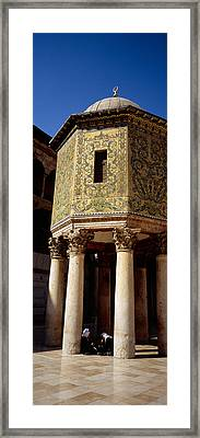 Two People Sitting In A Mosque, Umayyad Framed Print by Panoramic Images