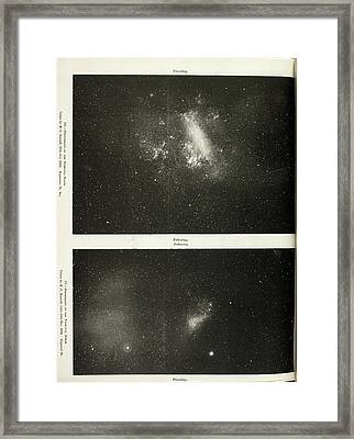 Two Photographs Of A Nebula Framed Print by British Library