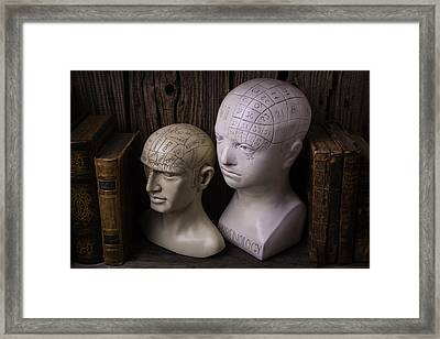 Two Phrenology Heads Framed Print