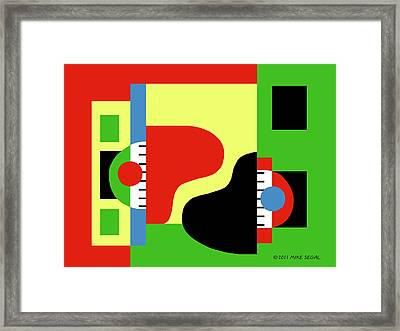 Two Pianos Framed Print