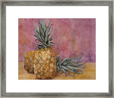 Two Pineapples Art Painting Framed Print by Blenda Studio