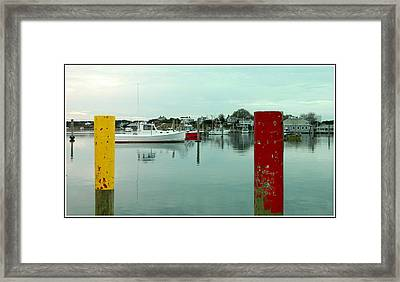 Two Poles Framed Print by Kathy Barney