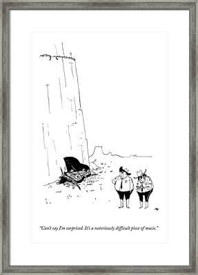 Two Police Officers Survey The Wreckage Framed Print