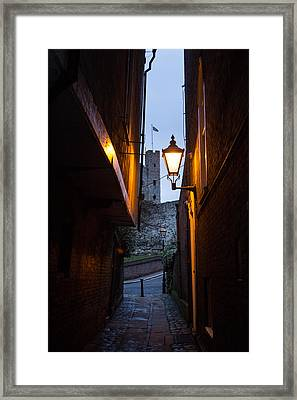 Two Post Ally Framed Print by Dawn OConnor