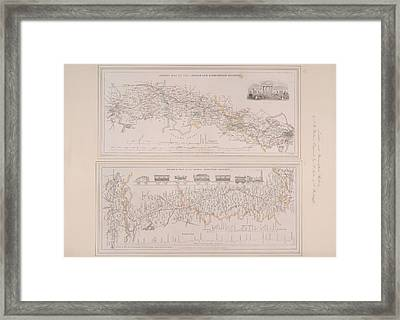 Two Railway Maps Framed Print