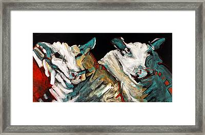 Two Rams Framed Print