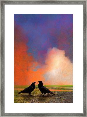 Two Ravens Framed Print