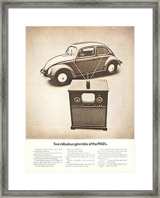 Two Ridiculous Gimmicks Of The 1940s Framed Print by Georgia Fowler