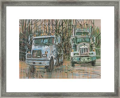 Two Rigs Framed Print by Donald Maier