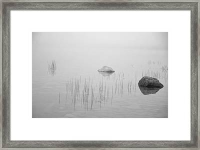 Two Rocks Bw Framed Print