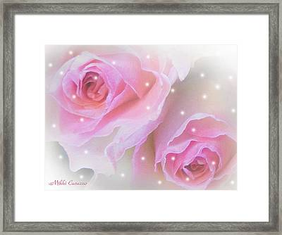 Two Roses Framed Print by Mikki Cucuzzo