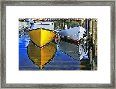 Two Row Boat At Fisherman's Cove Framed Print by Ken Morris
