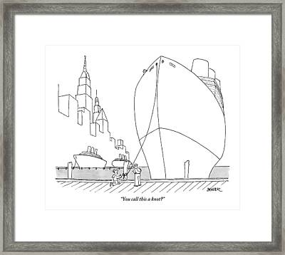 Two Sailors Are Speaking To Each Other Framed Print by Jack Ziegler
