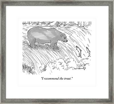 Two Salmon Jumping Upstream Framed Print