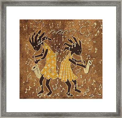 Two Sax Players Framed Print