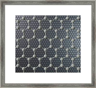 Two Sheets Of Graphene Framed Print by Robert Brook