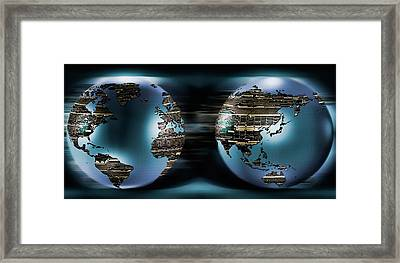Two Sides Of Earths Made Of Digital Framed Print by Panoramic Images