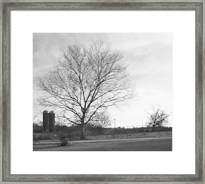 Two Silos Framed Print