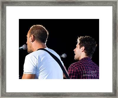 Two Singers Framed Print by Sinisa Botas
