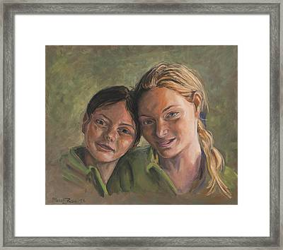 Two Sisters Framed Print by Marco Busoni