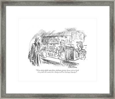 Two Sixty-eight Outa ?ve Framed Print by Alan Dunn