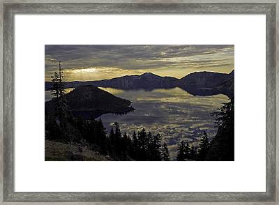 Two Skys At Sunrise Framed Print