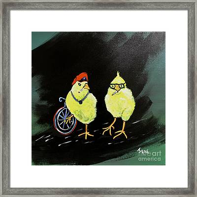 Two Smokin Hot Chicks Framed Print