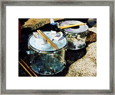 Two Snare Drums Framed Print by Susan Savad